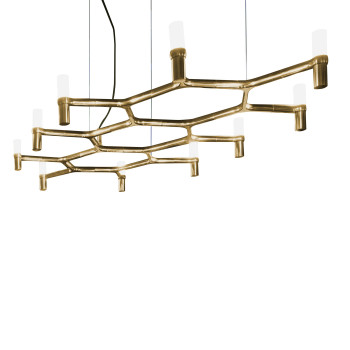 Nemo Crown Plana Chandelier, gold plated
