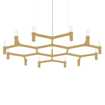 Nemo Crown Plana Minor Chandelier, painted gold