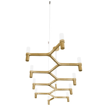 Nemo Crown Plana Linea Chandelier, gold plated
