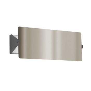 Nemo Applique À Volet Pivotant Double LED Wall Light, stainless steel