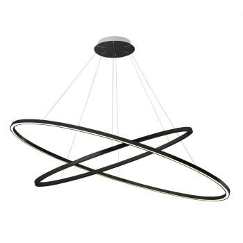 Nemo Ellisse Double Pendant Light, black