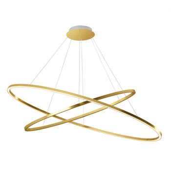 Nemo Ellisse Double Pendant Light, polished gold