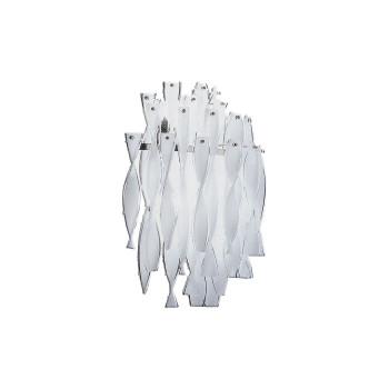 Axo Light Aura AP, Stahl glänzend - kristall