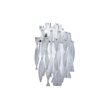 Axo Light Aura AP, Stahl glänzend - weiß