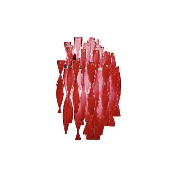 Axo Light Aura AP, Stahl glänzend - rot