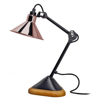 DCW Lampe Gras No 207, konisch, Schirm Kupfer