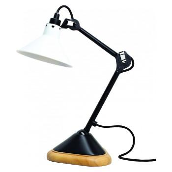DCW Lampe Gras No 207, konisch, Schirm weiß