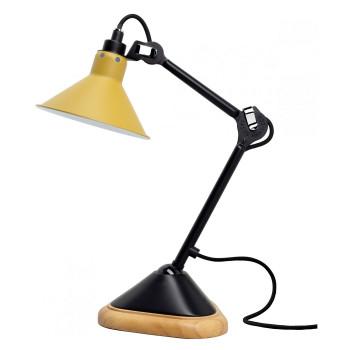 DCW Lampe Gras No 207, konisch, Schirm gelb