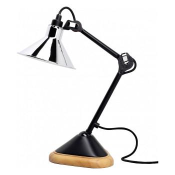 DCW Lampe Gras No 207, konisch, Schirm Chrom