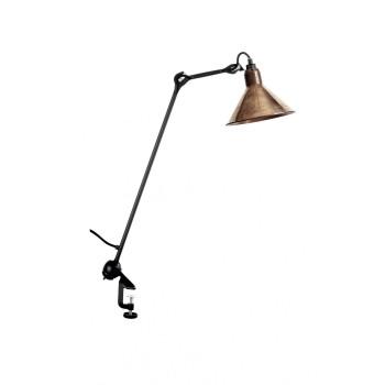 DCW Lampe Gras No 201, Schirm Kupfer roh (innen weiß)