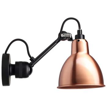 DCW Lampe Gras No 304, schwarz, Schirm Kupfer