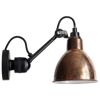 DCW Lampe Gras No 304, schwarz, Schirm Kupfer roh (innen weiß)