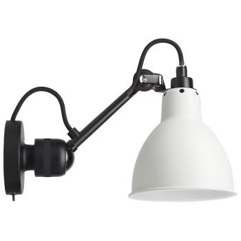 DCW Lampe Gras No 304 SW, schwarz, Schirm Glas matt