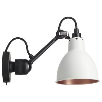 DCW Lampe Gras No 304 SW, schwarz, Schirm weiß (innen Kupfer)