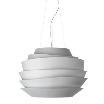 Foscarini Le Soleil Sospensione LED, weiß, mit Kabelsonderlänge max. 10 m