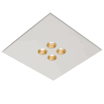 Icone Confort 4Q, blanc, feuille d'or