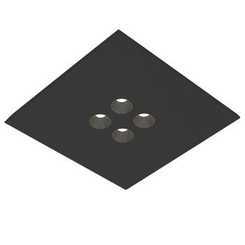 Icone Confort 4Q, noir, anthracite