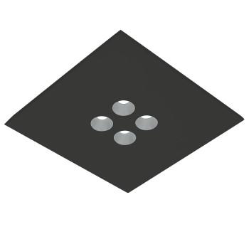 Icone Confort 4Q, noir, aluminium