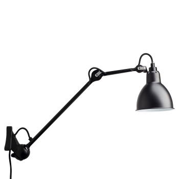 DCW Lampe Gras No 222, schwarz, Schirm schwarz