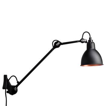 DCW Lampe Gras No 222, schwarz, Schirm schwarz (innen Kupfer)