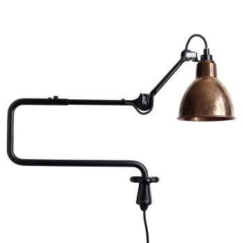 DCW Lampe Gras No 303, Schirm Kupfer roh