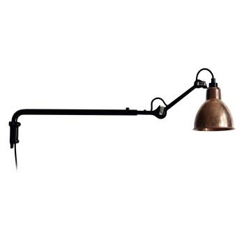 DCW Lampe Gras No 203, Schirm Kupfer roh
