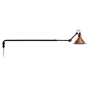 DCW Lampe Gras No 213, Schirm Kupfer roh