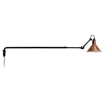 DCW Lampe Gras No 213, Schirm Kupfer roh (innen weiß)