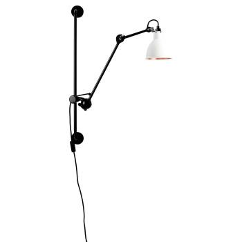 DCW Lampe Gras No 210, Schirm weiß (innen Kupfer)