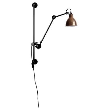 DCW Lampe Gras No 210, Schirm Kupfer roh (innen weiß)