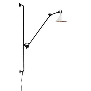 DCW Lampe Gras No 214, Schirm weiß (innen Kupfer)