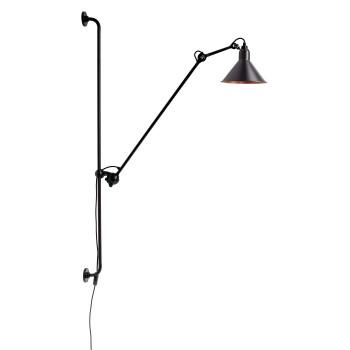 DCW Lampe Gras No 214, Schirm schwarz (innen Kupfer)