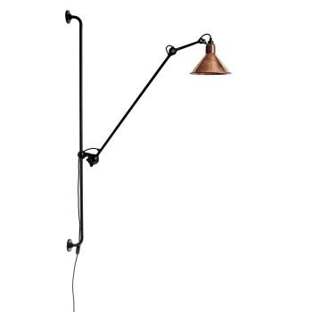DCW Lampe Gras No 214, Schirm Kupfer roh