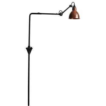 DCW Lampe Gras No 216, Schirm Kupfer roh