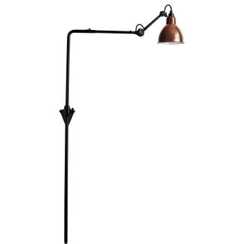 DCW Lampe Gras No 216, Schirm Kupfer roh (innen weiß)