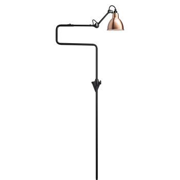 DCW Lampe Gras No 217, Schirm Kupfer (innen weiß)