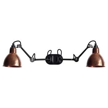 DCW Lampe Gras No 204 Double, Schirm Kupfer roh