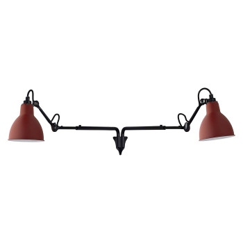 DCW Lampe Gras No 203 Double, Schirm rot
