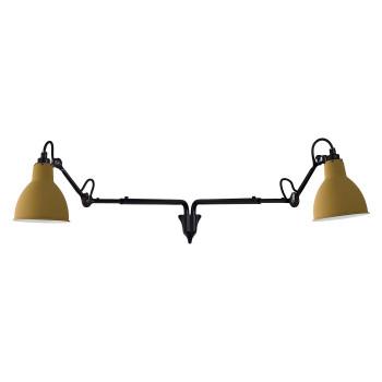 DCW Lampe Gras No 203 Double, Schirm gelb