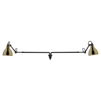DCW Lampe Gras No 213 Double, Schirm Messing