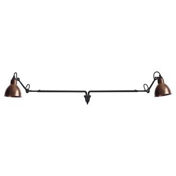 DCW Lampe Gras No 213 Double, Schirm Kupfer roh