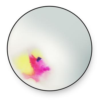 Petite Friture Francis Spiegel, Durchmesser 60 cm, rosa-gelb