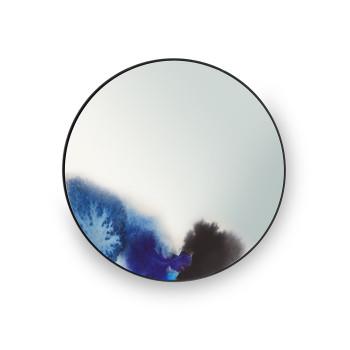 Petite Friture Francis Spiegel, Durchmesser 45 cm, blau-lila