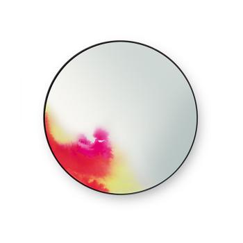 Petite Friture Francis Spiegel, Durchmesser 45 cm, rosa-gelb