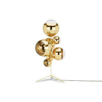 Tom Dixon Mirror Ball Stand Chandelier, gold