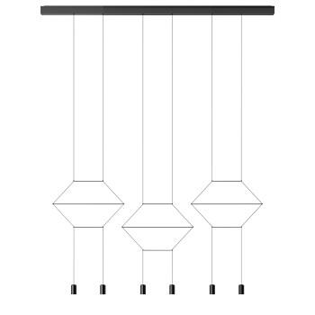 Vibia Wireflow Lineal 0325, schwarz