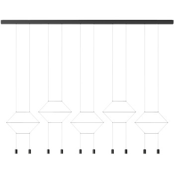 Vibia Wireflow Lineal 0330, schwarz