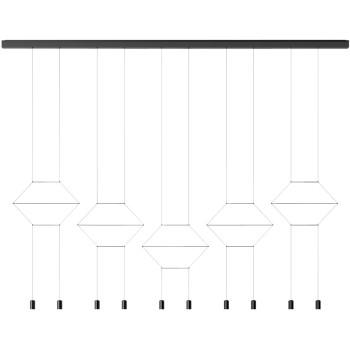 Vibia Wireflow Lineal 0332, schwarz