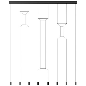 Vibia Wireflow Lineal 0340, schwarz