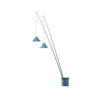 Vibia North 5600 Stehleuchte, blau